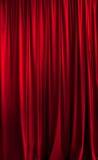 概念窗帘介绍红色显示阶段剧院 免版税库存照片