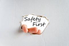 概念第一安全性 免版税库存图片