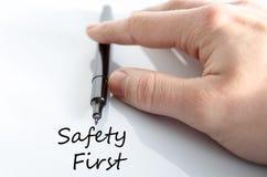 概念第一安全性 库存照片