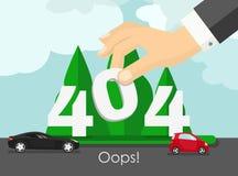 概念第404页 设计错误 没找到的例证模板 库存照片
