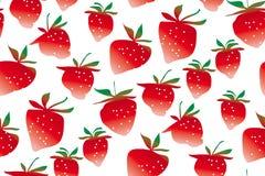 概念简明草莓无缝的样式 库存图片