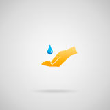概念纯水 免版税库存图片