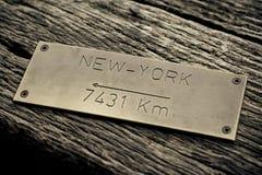 概念纽约 库存图片