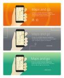 概念网横幅和促销产品 免版税库存图片