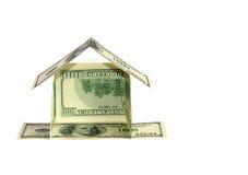概念美元房子 库存图片