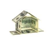 概念美元房子 库存照片