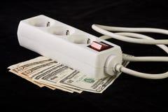 概念花费能源货币插件次幂 库存照片