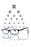 概念视力测定 库存图片