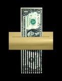 概念负债切细的美元经济 图库摄影