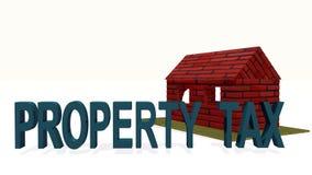 概念财产税 库存照片