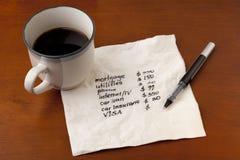 概念财务家庭 库存图片
