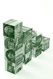 概念货币台阶 库存图片