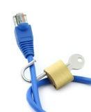概念连接数不安全的互联网 库存照片