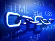 概念连接的互联网技术 免版税库存照片