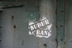 概念都市朽烂的街道画 免版税图库摄影
