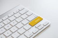 概念键盘-啤酒 免版税图库摄影