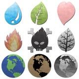 概念露水地球环境图标 免版税库存图片