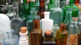 概念非常老多灰尘的瓶 库存照片