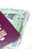 概念韩国南旅行 免版税库存照片