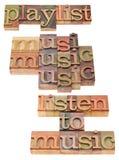 概念音乐播放表 免版税库存图片