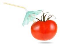 概念饮食和健康菜吃 汁液蕃茄 库存图片