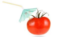 概念饮食和健康菜吃 汁液蕃茄 免版税库存照片
