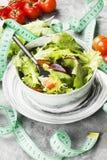 概念饮食食物 饮食混杂的蔬菜沙拉mesclun, m 免版税图库摄影