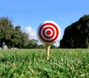 概念高尔夫球目标 免版税库存图片