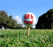 概念高尔夫球 免版税库存照片