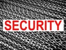 概念高级保护证券 库存照片