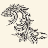 概念鱼黑白照片 免版税图库摄影