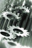 概念齿轮机械银灰色 库存图片