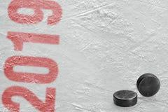 概念,曲棍球,季节 免版税库存图片