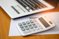 概念,计算收入和费用 库存图片