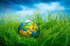 概念-世界地球日 免版税图库摄影