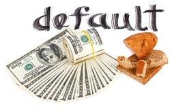 概念货币默认值美元照片美国 免版税库存图片