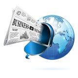 概念-数字式新闻 免版税库存图片