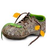 概念 概念eco友好鞋子 库存照片