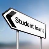 概念贷款学员 库存图片