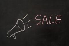 概念玻璃现有量扩大化的销售额 免版税库存照片