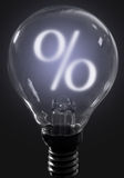 概念玻璃现有量扩大化的销售额 免版税库存图片
