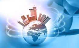 概念cyber互联网空间世界 皇族释放例证