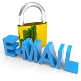 概念e互联网邮件挂锁安全性字 向量例证