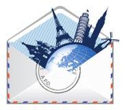 概念e全球邮件 库存照片