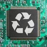 概念e eco友好旧货回收技术 免版税库存图片