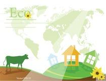 概念eco和平鸽子 免版税库存照片