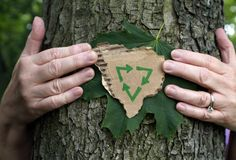 概念eco回收能持续力 图库摄影