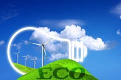 概念eco能源 库存图片