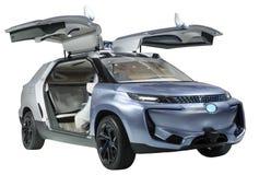 概念SUV小轿车孤立 库存图片