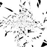 概略和锋利抽象单色纹理 任意疏散edg 库存例证